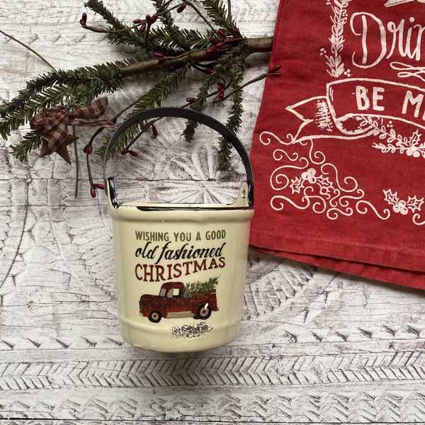 Old Fashioned Christmas Candle Crock