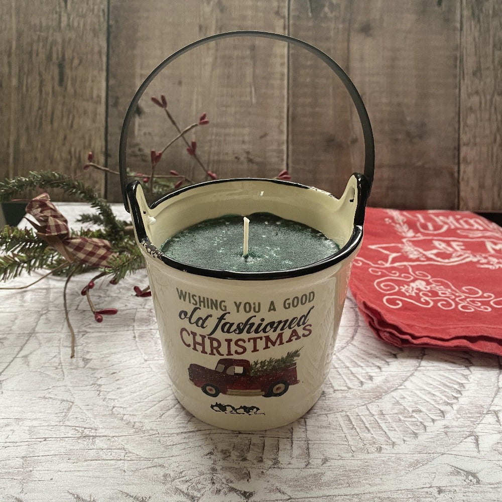 Balsam Fir Ceramic Crock Candle