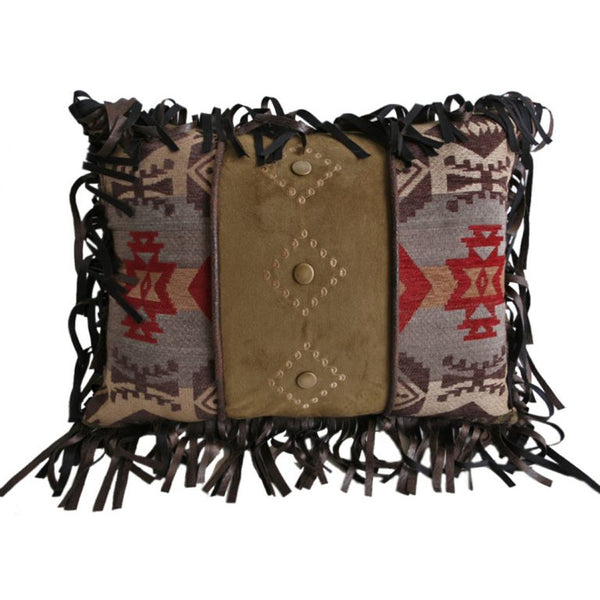 Montana Cushion with Fringe and Studs
