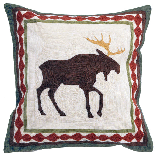Moose Chain Stitch Cushion UK