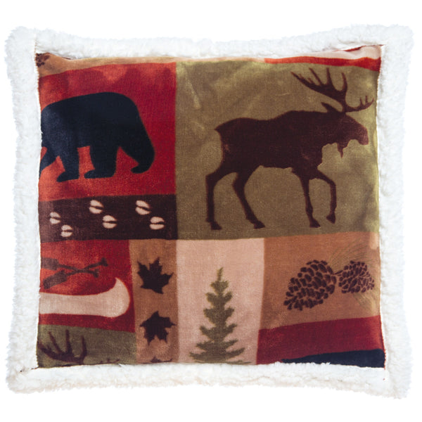 Patchwork Lodge Plush Cushion