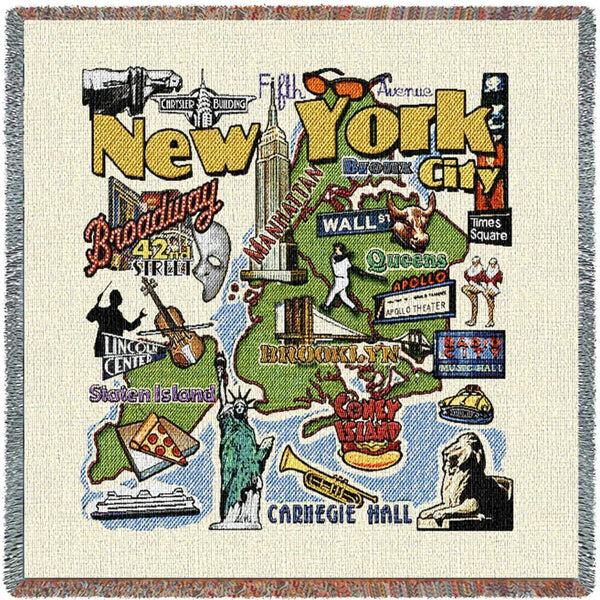 New York City Woven American Throw