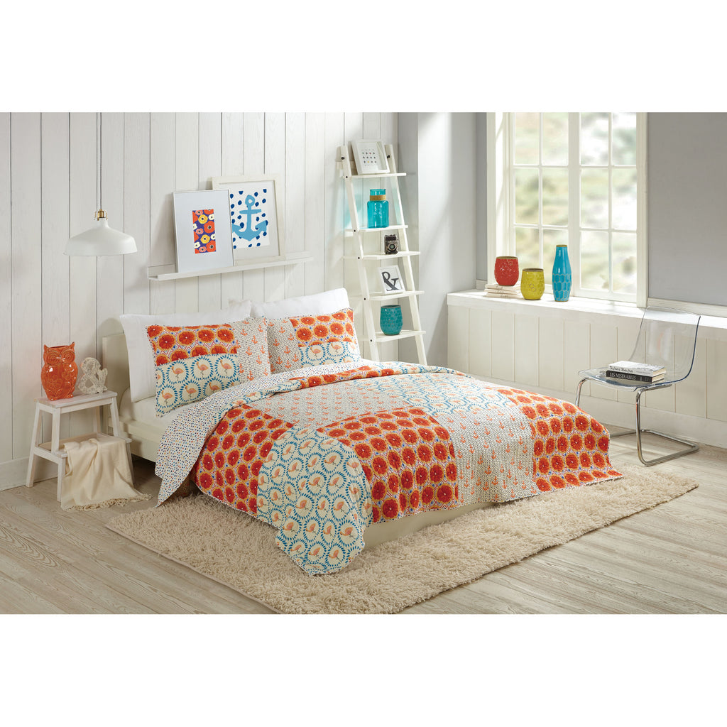 Flamingo Quilted Bedspread Set