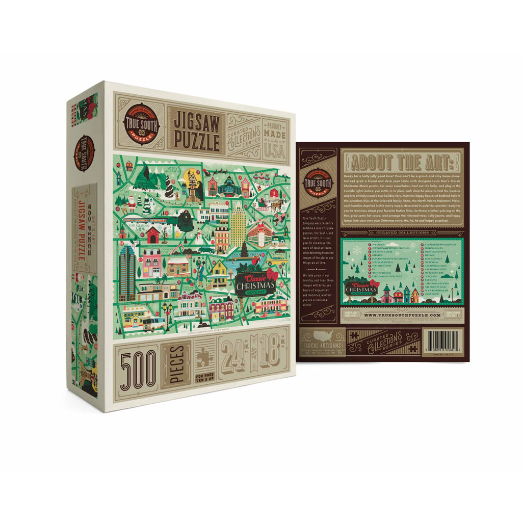 Classic Christmas Movie Map Jigsaw