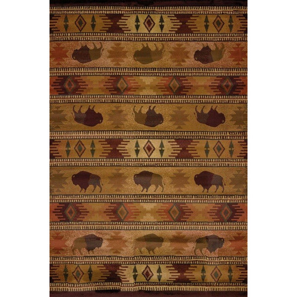 Buffalo Lodge Rug in the UK