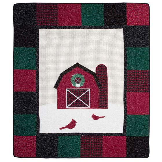 Festive Barn Quilted Throw