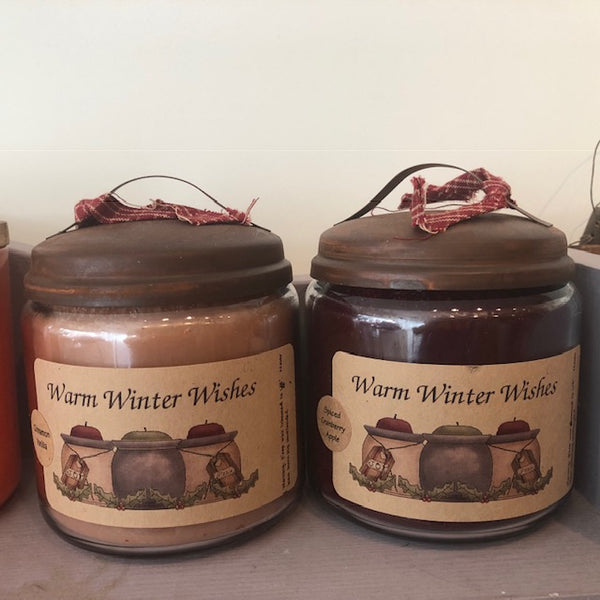 Warm Winter Wishes Apothecary Style Candles