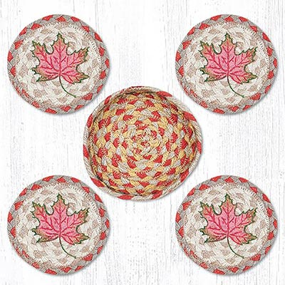 Autumn Leaves Coasters Set