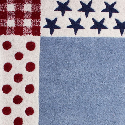 Spots and Stars Rug Closeup