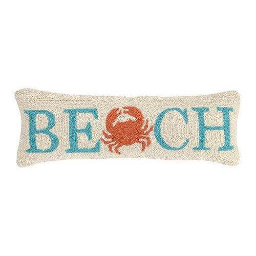Hooked Beach Cushion with Crab