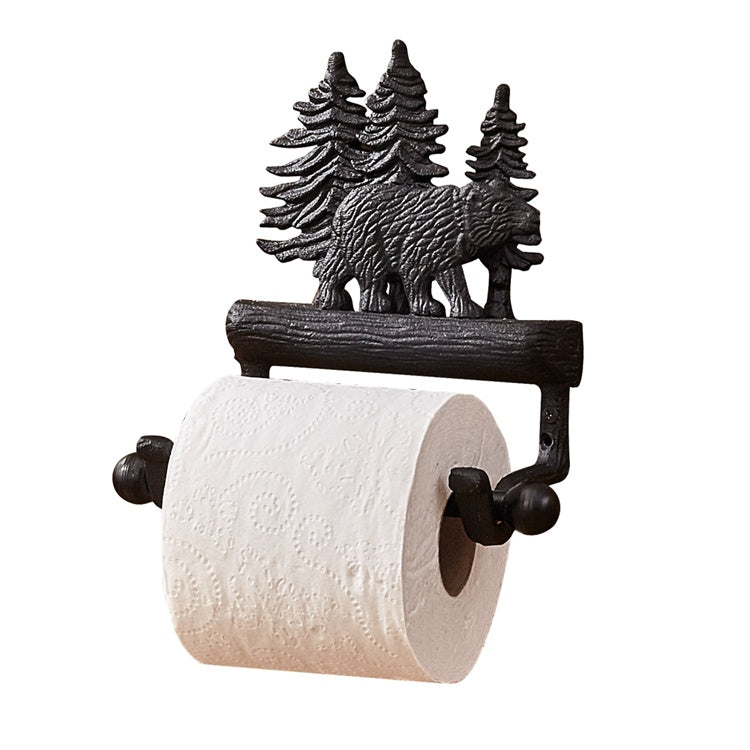 Bear and Trees Toilet Roll Holder UK