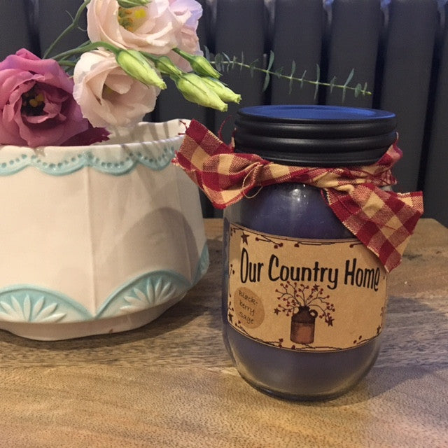 Blackberry Sage Mason Jar Candle
