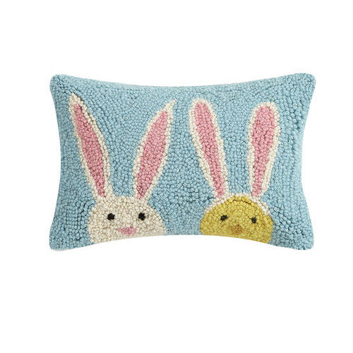 Bunny Duo Hooked Cushion