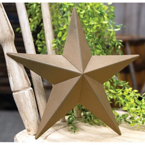 Mustard Yellow American Barn Star Decoration