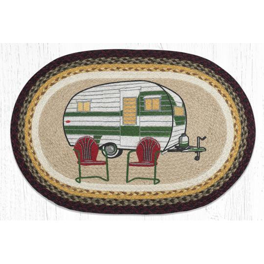 Retro Camper Braided Jute Rugs