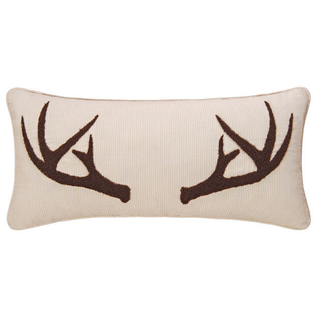 Tufted Antlers Striped Cushion