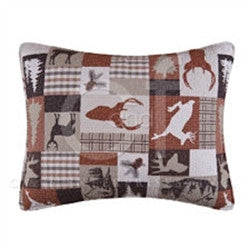Patchwork Stags Quilted Pillow Sham