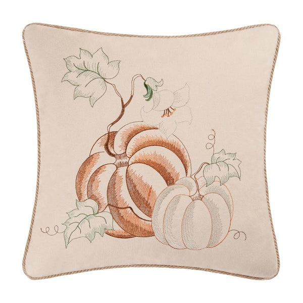 Embroidered Pumpkins Cushion