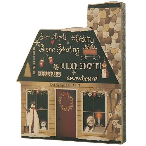 Wooden Christmas Cabin Decoration