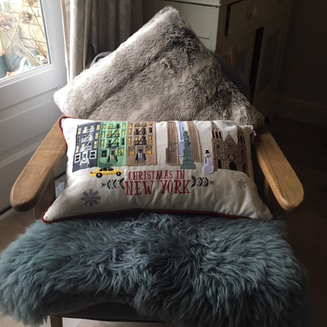 Christmas in New York Cushion UK
