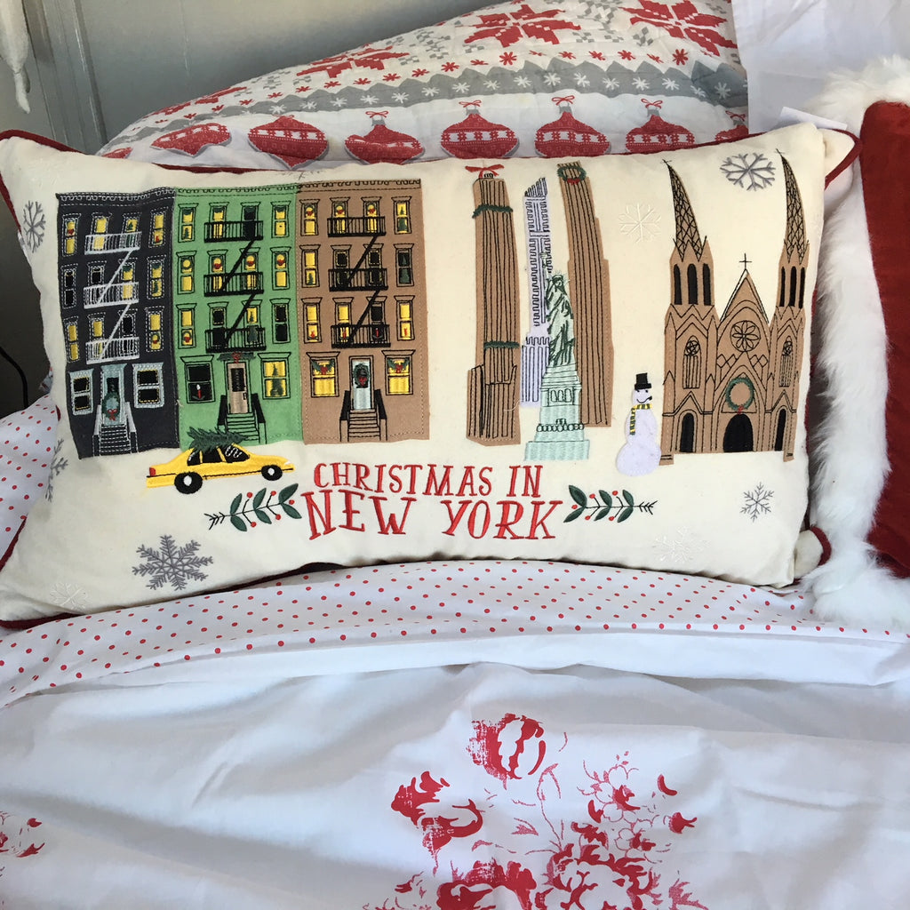 Christmas in New York Cushion