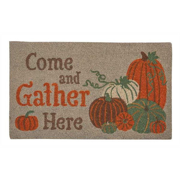 Come and Gather Here Doormat with Pumpkins