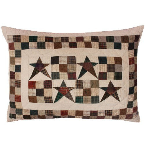 Primitive Country Stars Pillow Sham