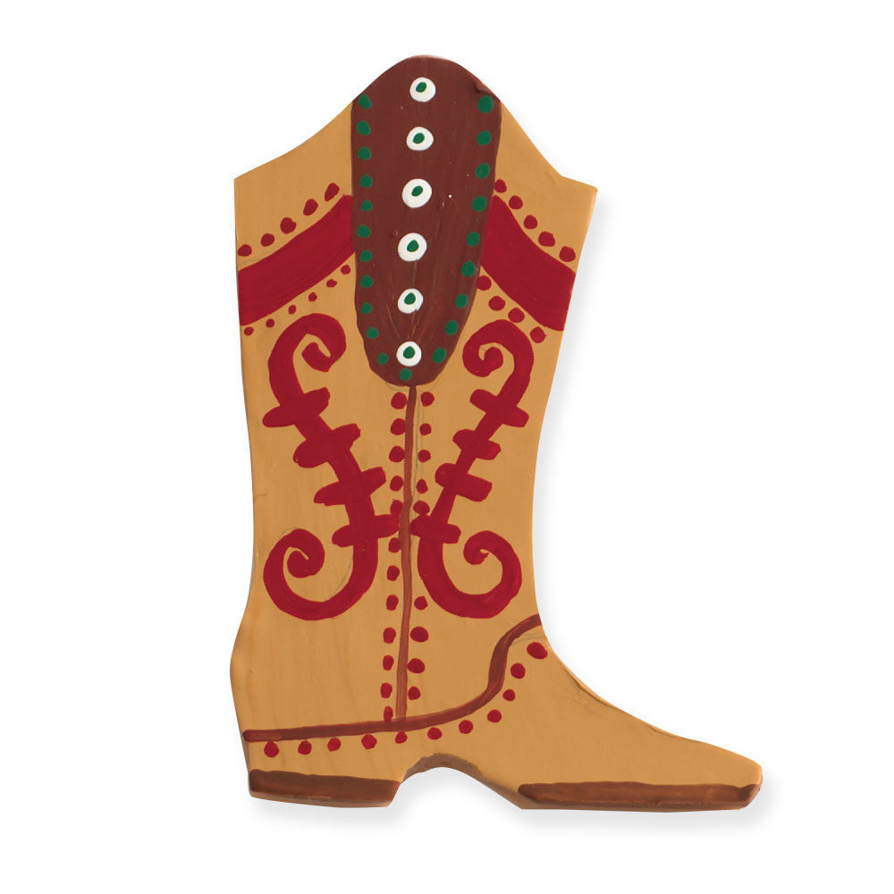 Cowboy Boot Decorated Cookie