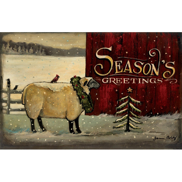 Seasons Greetings American Christmas Candle