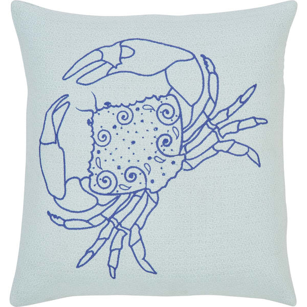 Blue Crab Seaside Style Cushion