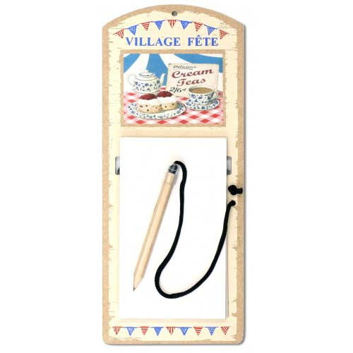 Cream Teas Refillable Magnetic Notepad