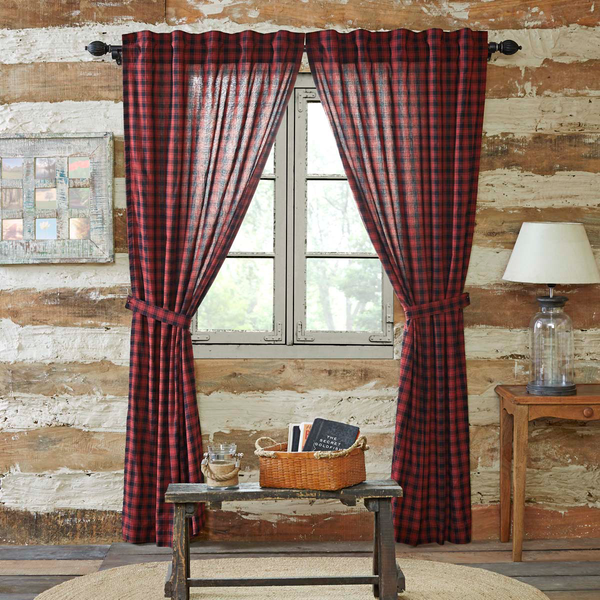 Cumberland Log Cabin Check Curtains UK