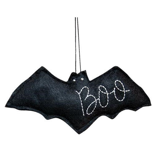 Black Felt Bat Boo Ornament