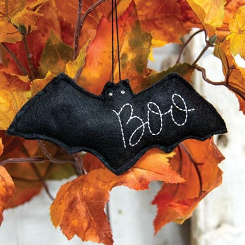 Felt Bat BOO Ornament