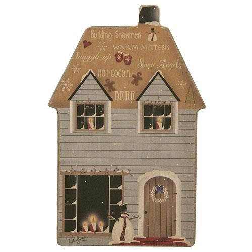 Brrr Wintry Blue House Magnet