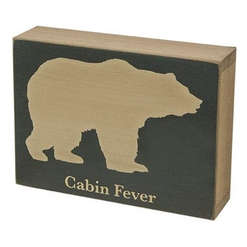 Cabin Fever Box Sign Art