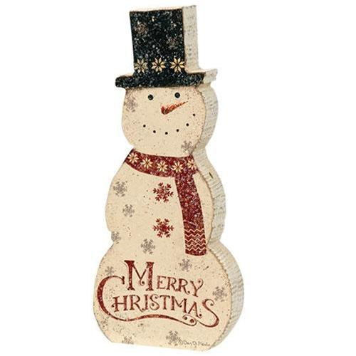 Merry Christmas Snowman Decoration