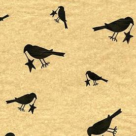 Blackbird and Stars Tissue Paper Pack of 10