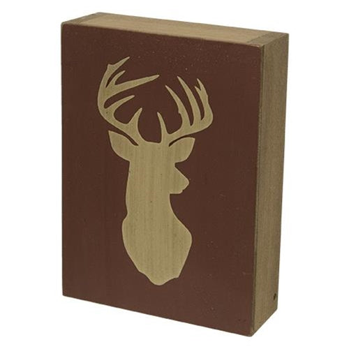 Deer Head Block Sign
