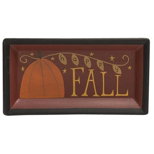Happy Fall Wooden Tray