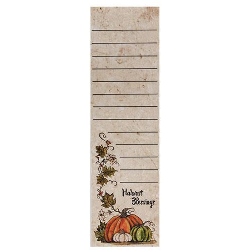 Harvest Blessings Magnetic Notepad