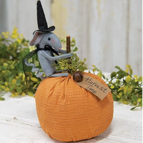 Harvest Mouse Pumpkin Decoration