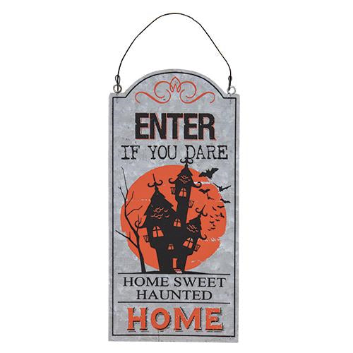 Home Sweet Haunted Home Halloween Sign