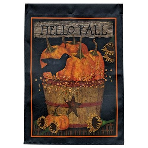 Hello Fall Garden Flag UK