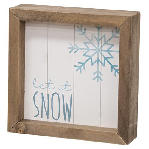 Let it Snow Two Sided Sign