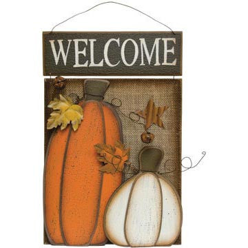 Large Pumpkin Welcome Sign