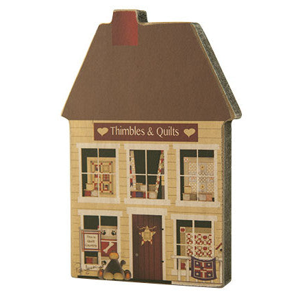 Quilt Shop Wooden House Decoration