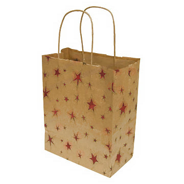 Red Star Recycled Gift Bag