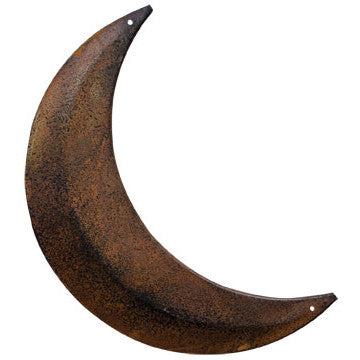 Rust and Black Tin Moon Decoration