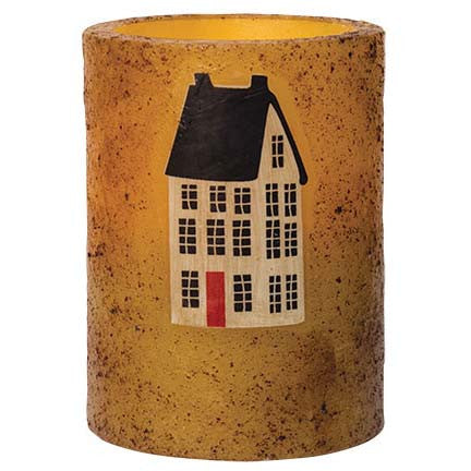 Saltbox House Timer Pillar Candle